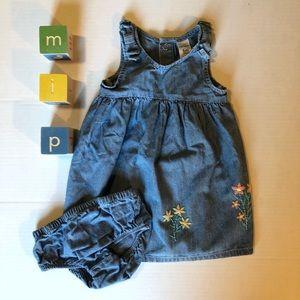 Carter's Chambray Sleeveless Dress 6m